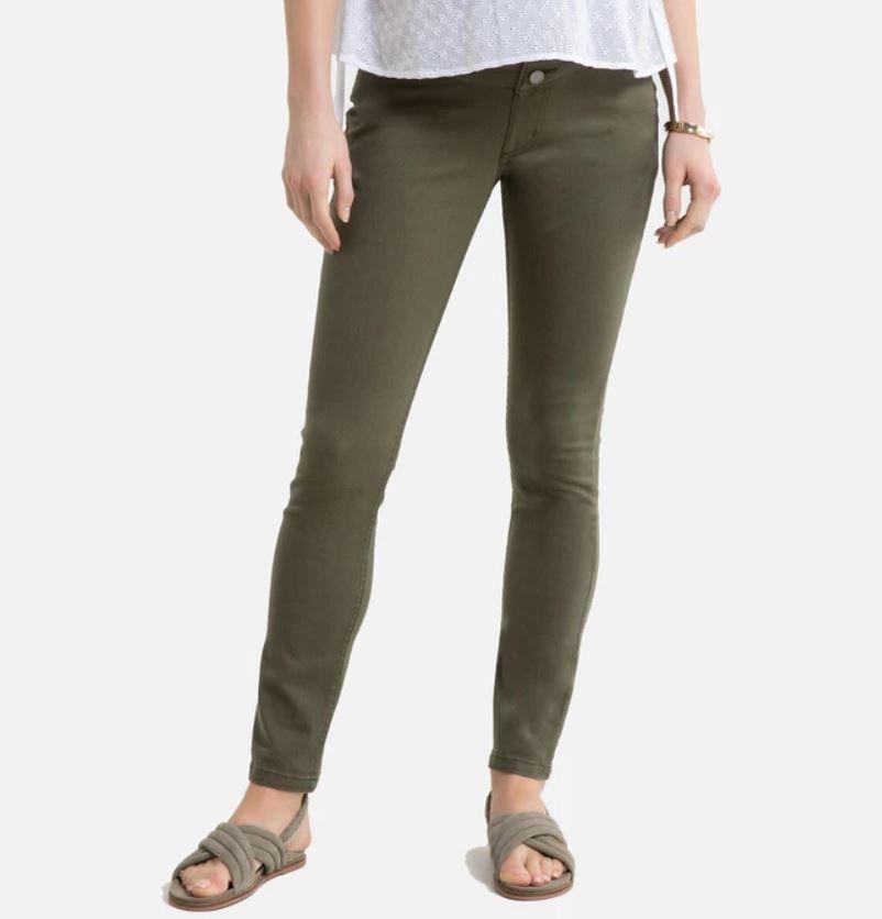 Cotton Slim Maternity Trousers