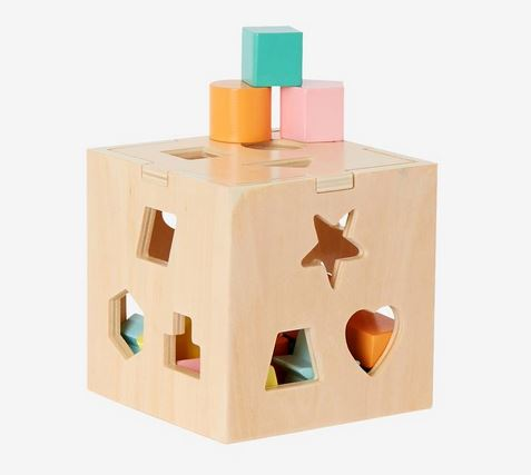Wooden Shape and Sort Box