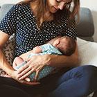 mum breastfeeding baby