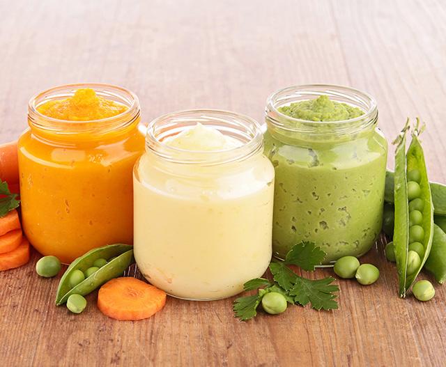 three food jars