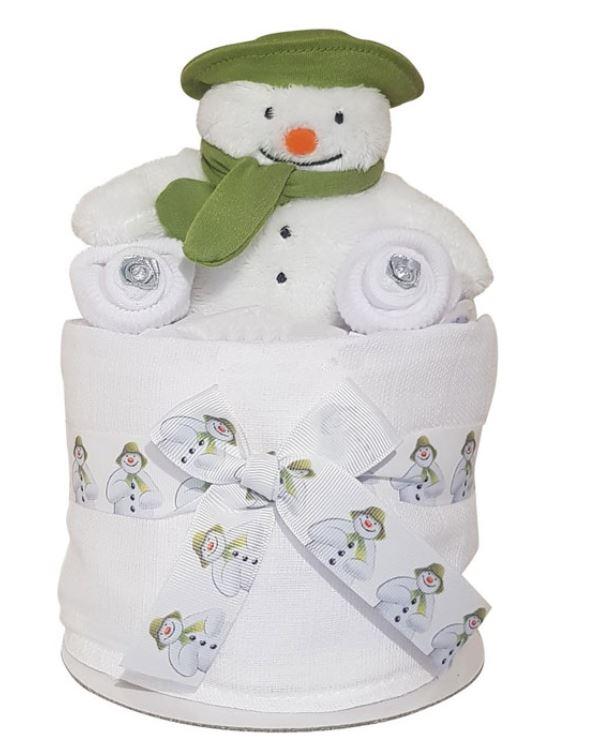 Mini Snowman Nappy Cake Gift