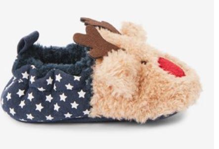 Brown Slip-On Reindeer Pram Shoes