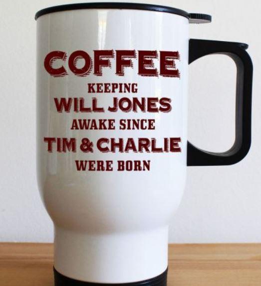 Personalised Keeping Dad Going Mug