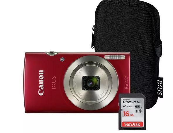 Canon IXUS 185 20MP 8x Zoom Compact Digital Camera