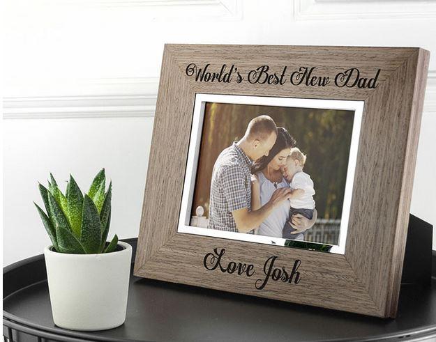 World's Best New Dad Wooden Frame