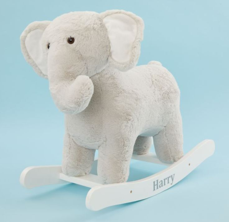 Personalised Grey Elephant Rocker Toy,