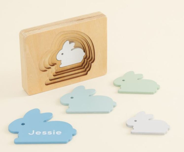 Personalised Blue Bunny Puzzle