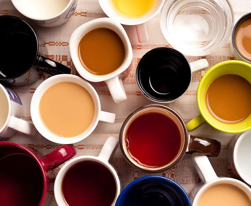 Tea, coffee and soft drinks