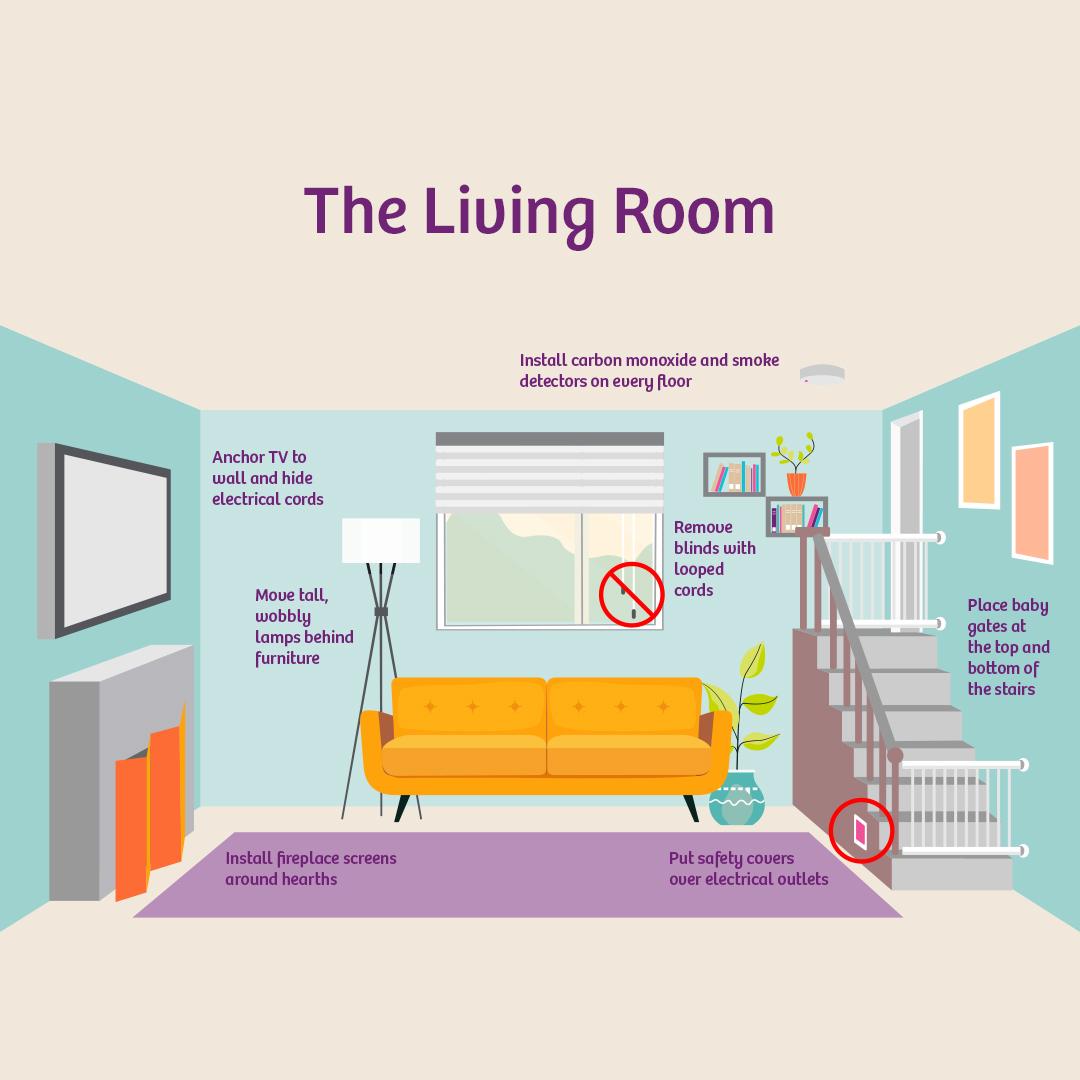 babyproof living room