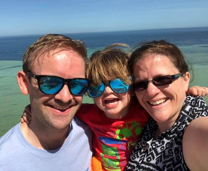 Carol Bisley and family