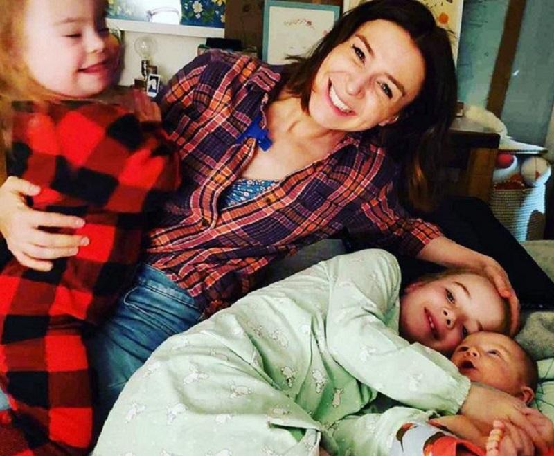 Caterina Scorsone and kids