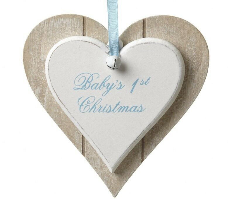ebay-Baby-First-Christmas-Blue-Hanging-Wooden-Decoration