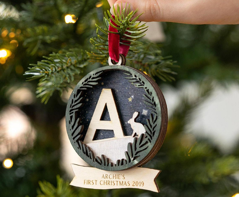 Etsy-Personalised-Initial-First-Christmas-Bauble