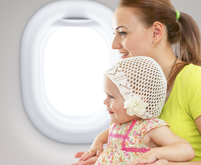 flying with child mob