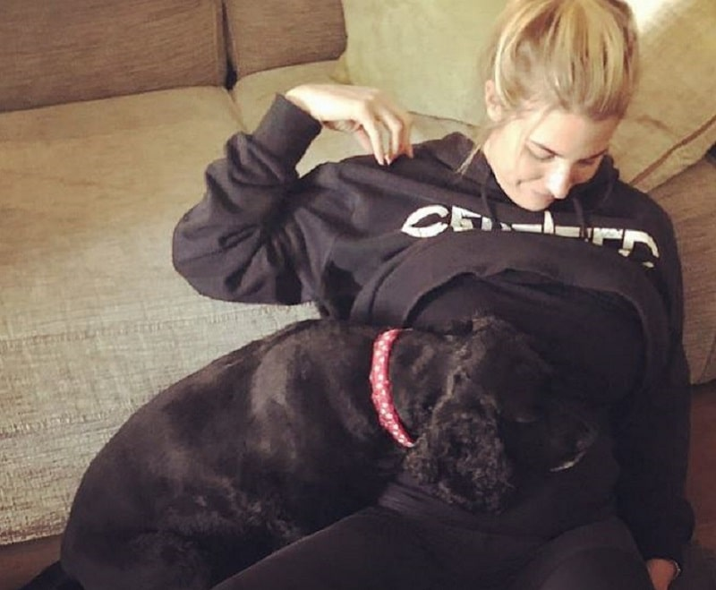 Gemma Atkinson and her dog