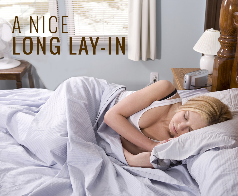 Why not give your partner a long lie in