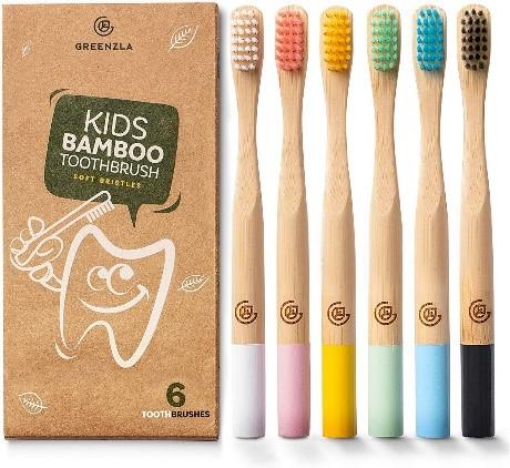 Greenzla Kids Bamboo Toothbrushes