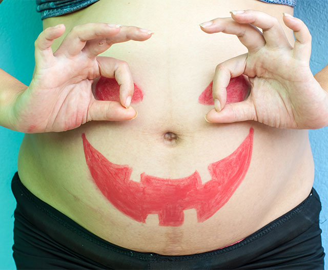 decorated baby bump