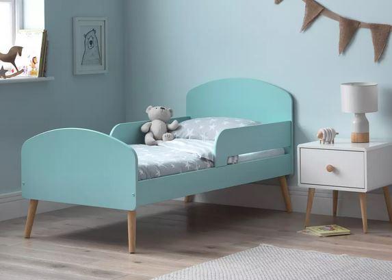 Home Bodie Blue Toddler Bed Frame