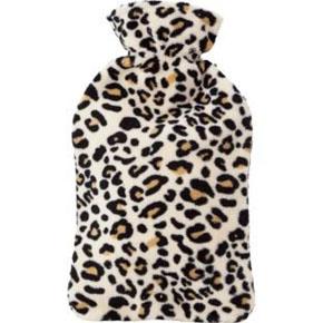 Leopard print hot water bottle
