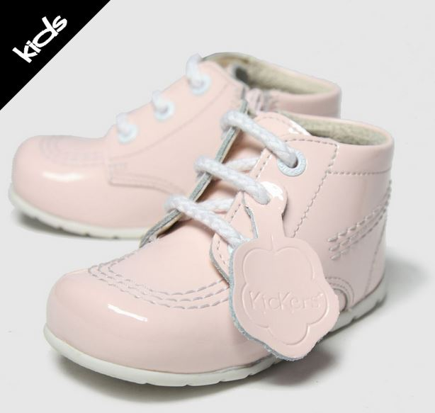 Kickers Pale Pink Hi B Zip Shoes
