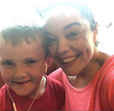 Lisa Riley and nephew