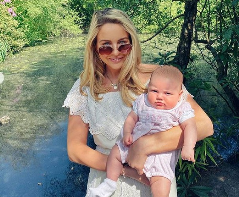 Lydia Bright and her baby