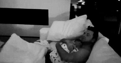 Mark Feehily with baby Layla