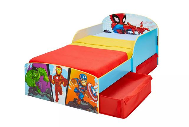 Marvel Avengers Toddler Bed Frame with Drawers