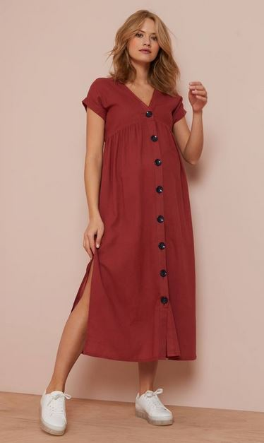 Maternity dress with Buttons on the Front