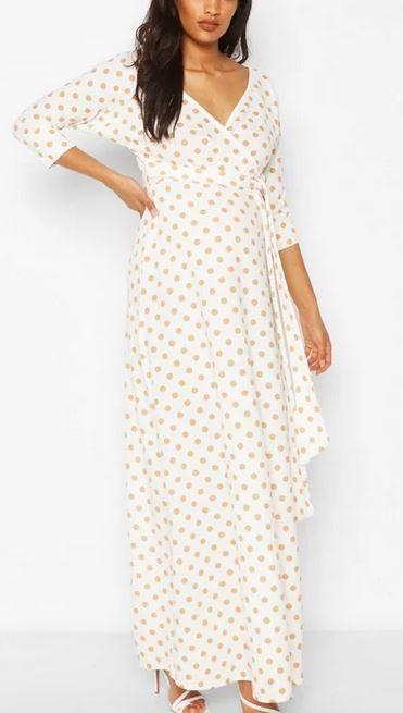 Maternity Wrap Maxi Dress
