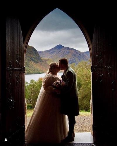 Michelle McManus wedding shot