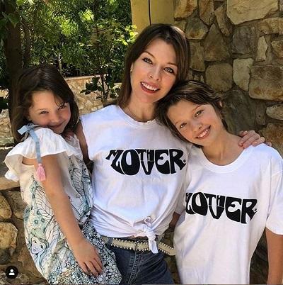 Milla Jovovich and kids
