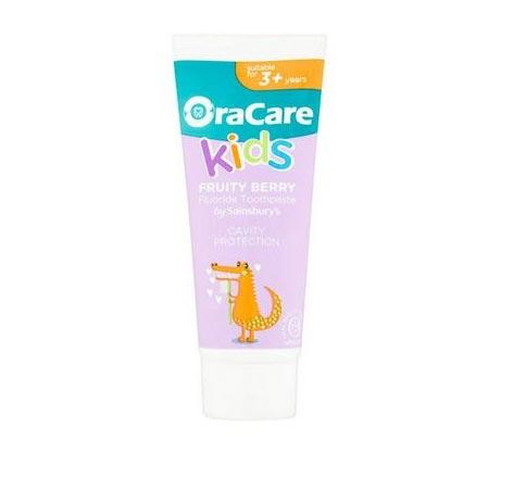 OraCare+ Kids Fruity Berry Fluoride Toothpaste
