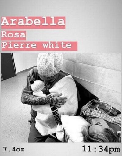 Pierre White Jr baby post 2
