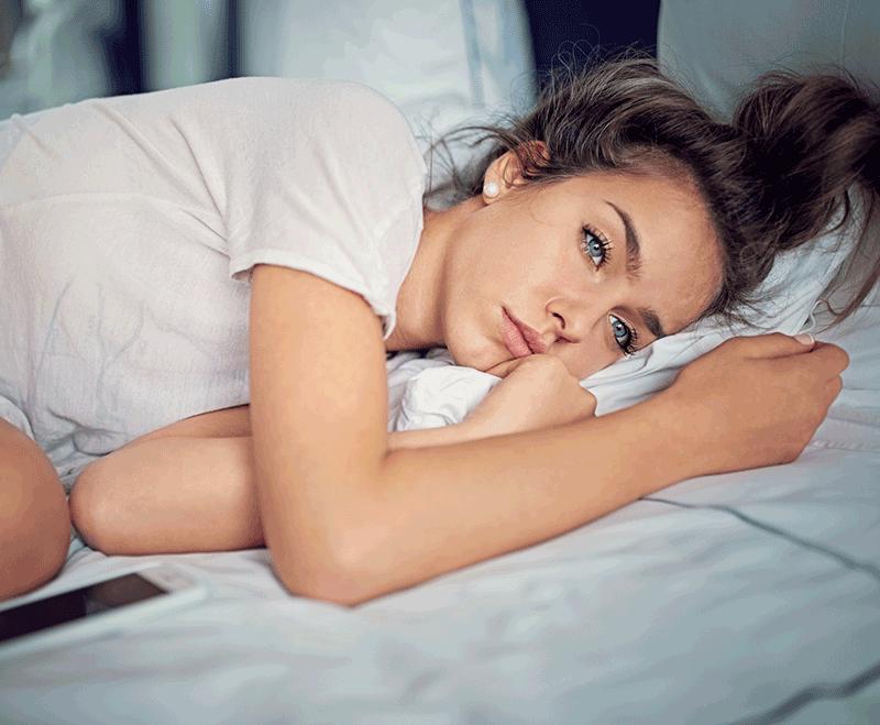 woman with postnata depression