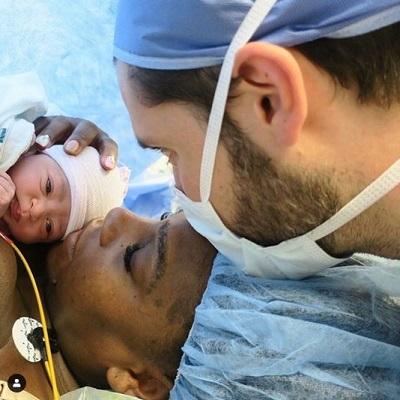 Serena Williams birth pic