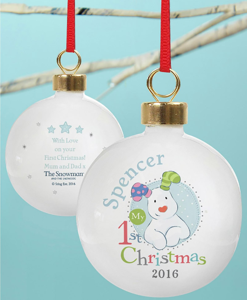 Studio-Personalised-The-Snowdog-My-First-Christmas-Blue-Bauble