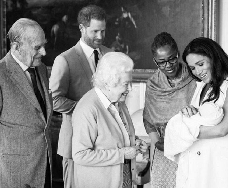 The Queen meets her great-grandson