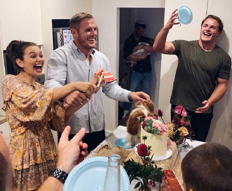 Tom and Tahlia gender reveal
