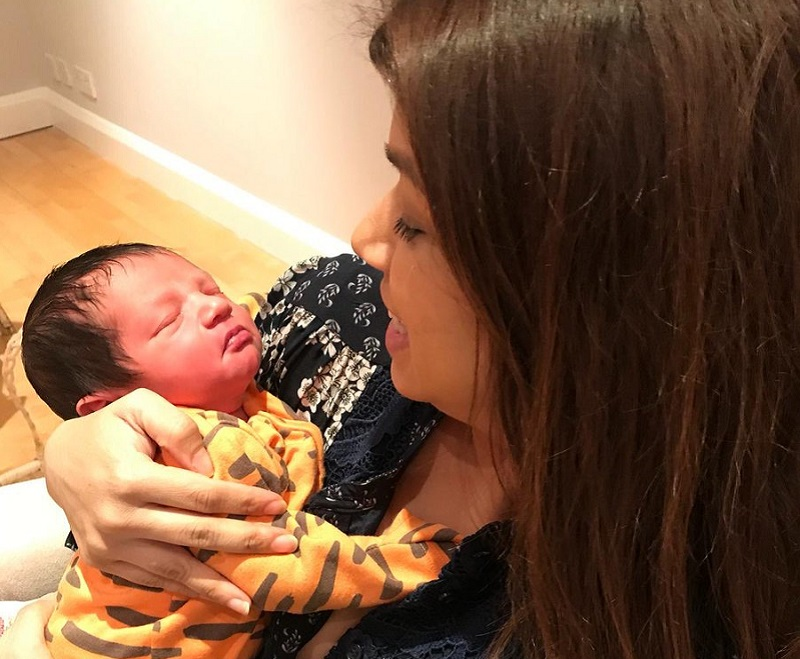 Tulip Siddiq and baby