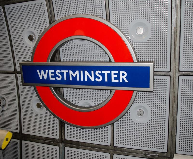 Westminster Underground sign