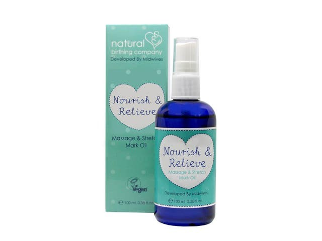 Natural Birthing Company nourish and relieve massage & stretch mark oil