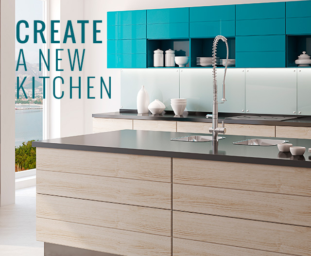 image of kitchen sides and sink