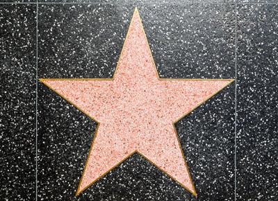 star on black tiles