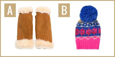 cosy accessories images A and B