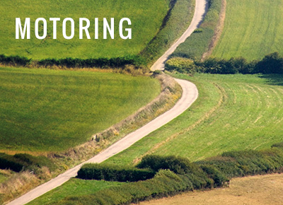 road running through fields