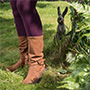 image of woman wearing a pair of boots